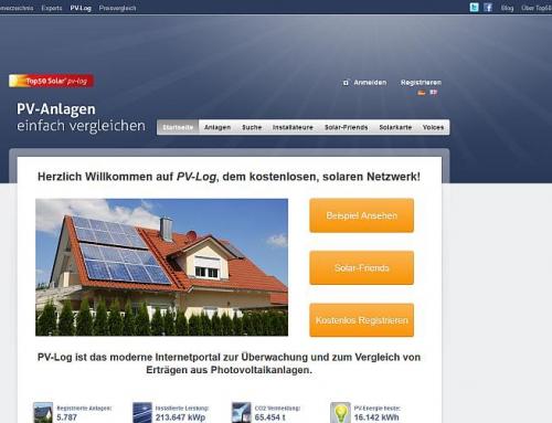 Strategie und Marketingbegleitung für PV-Log, eine Plattform für Photovoltaik