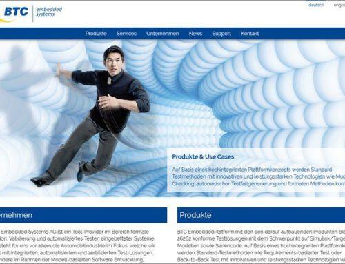 Multilinguale Website für BTC-ES AG