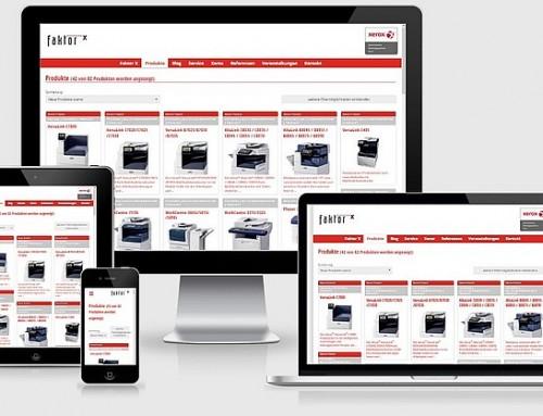 Responsive Website für großen Xerox-Partner