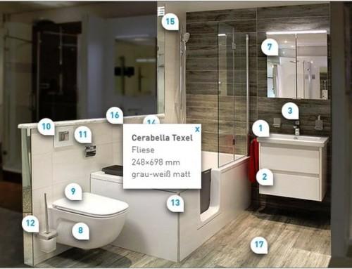 Digitaler Komfort für Besucher und Berater der Badausstellung