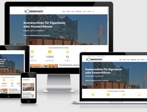 WordPress Website für sonnenschutz.de